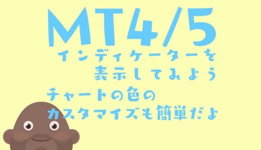MT4/MT5の色の変え方とインディケーターの出し方