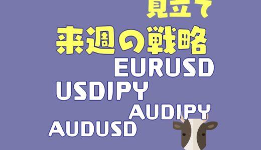 【戦略】ドル円・ユロドルではあのラインに注目|豪ドル絡みは反発に期待