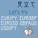 EURJPY ,EURUSD,EURGBP,GBPAUD,USDJPYの見立て