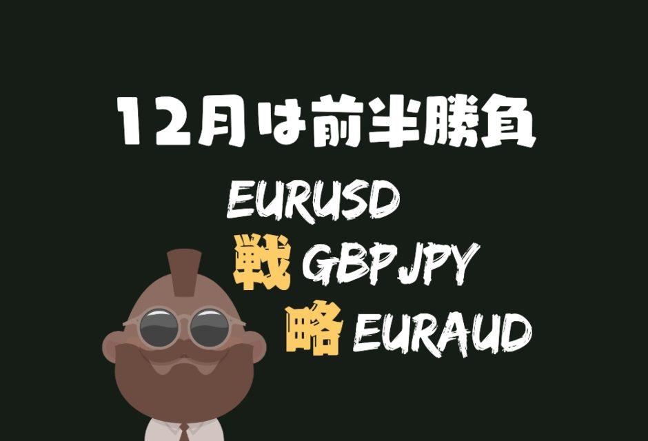 12月の戦略公開。EURSUD、GBPJPY、EURAUD