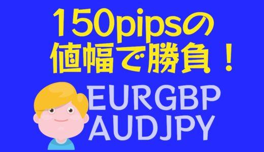 【FX戦略】トレンドの継続を信じられるか? 150pipsの値幅で挑戦 AUDJPY, EURGBP